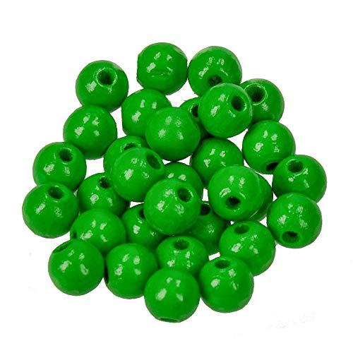 Efco Holz-Perlen Apfelgrün 8 mm, 80 Stück