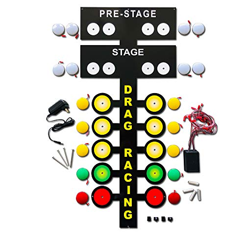 Large LED Light up Drag Racing Drag Strip Tree Metal Sign Garage art decoration - 3 FT Tall