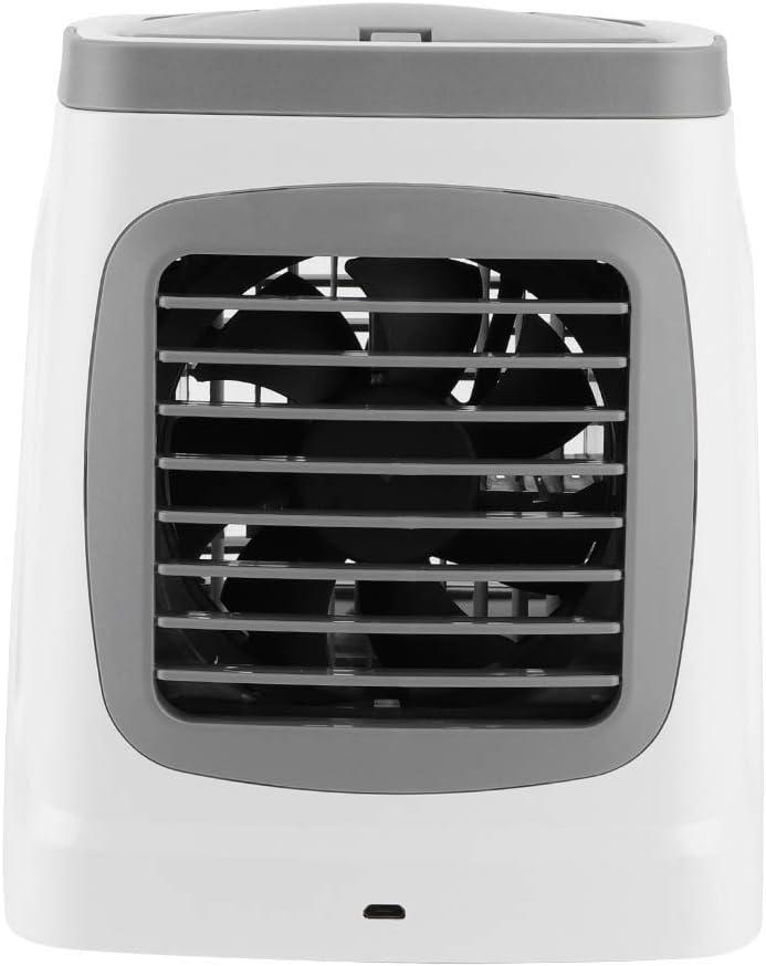 DWMD Ventilador del refrigerador de Aire, Mini Aire Acondicionado Multifuncional Ligero del LED, para el hogar de la Oficina(Classic Grey, Insect)