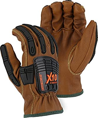 Majestic 21285WR Cut-less with Kevlar Goatskin, Arc, Oil & Water Resistant Gloves, Impact Protection