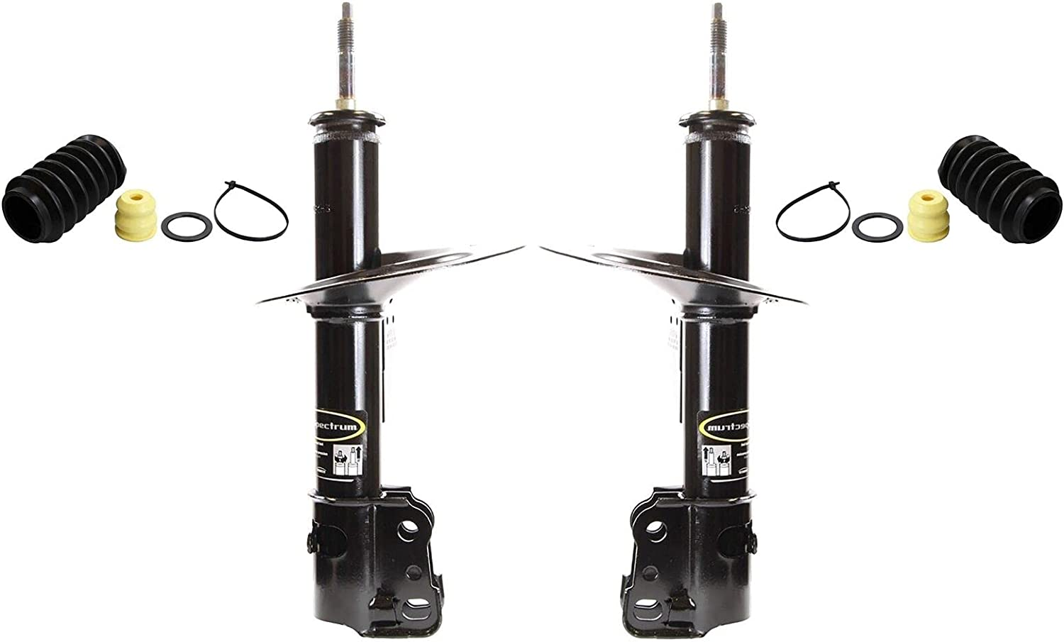 Front NEW Left Right Struts Boot Cara Compatible with Dodge Kits New color