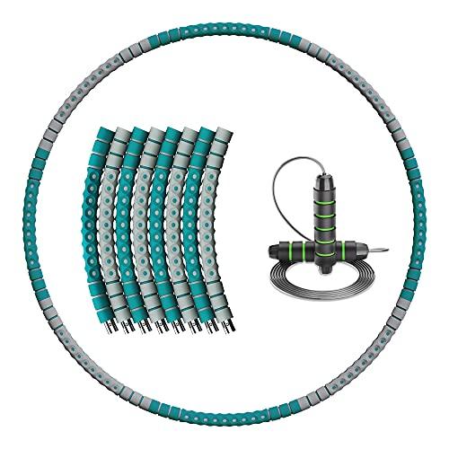 LUIBOR-BY Fitness Reifen & Springseil Fitness 8-Segmente Abnehmbarer Anfänger Mit hola hup Reifen für Für Fitness/Sport/Zuhause/BüRo/Bauchformung