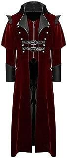 ⭐LIM&SHOP⭐ Men's Steampunk Vintage Tailcoat Jacket Gothic Victorian Frock Long Trench Coat Halloween Uniform Costume