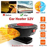 Portable Car Heater/Defroster, 2020 Upgrade Quick-Heating Car Windshield Defogger Demister(12V 150W), Vehicle Heat Cooling Fan, Plugged in Cigarette Lighter, 360°Rotating Base, Low Consumption