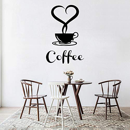 yiyiyaya Abnehmbare DIY Küche Dekor Kaffeetasse Decals Vinyl Aufkleber Dekoration gelb M 30 cm X 50 cm