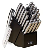 Oster Baldwyn High-Carbon Stainless Steel Cutlery Knife Block Set, 22-Piece, Brushed Satin