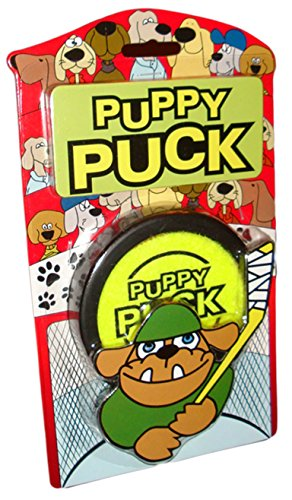 Pet Qwerks PP2 3 Rubber Puppy Puck - Solid Rubber Construction, Ideal for Sliding on Hard Foors, Treat Toy That Avoids Boredom & Keeps Dogs Active | Safe for Indoor & Outdoor Use