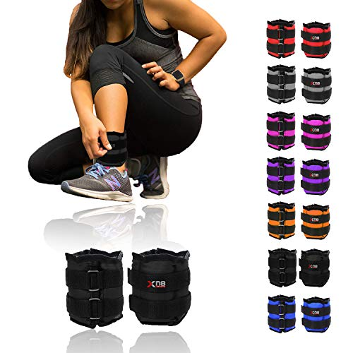 Xn8 Ankle Weights Adjustable Wrist Strap | 0.5kg-3kg Leg Weight Sets for...
