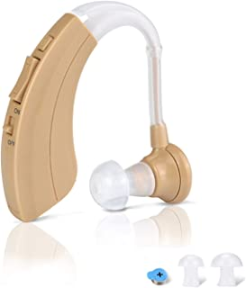 Digital HearingAmplifierAid- FDA ApprovedPersonal Sound Device with 2Pcs 500hr Batteries, 4 Channels Noise Reduction, Hearing Aid Cleaning Kitfor Adults and Seniorsby iAid