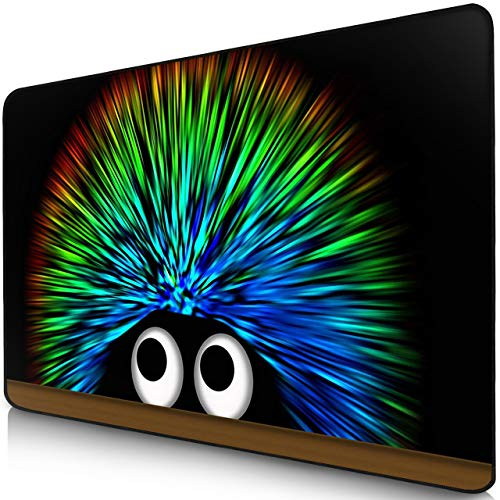 Sidorenko Gaming Mauspad I Mousepad 280 x 200 mm I Fransenfreie Ränder I spezielle Oberfläche verbessert Geschwindigkeit und Präzision I rutschfest I schwarz