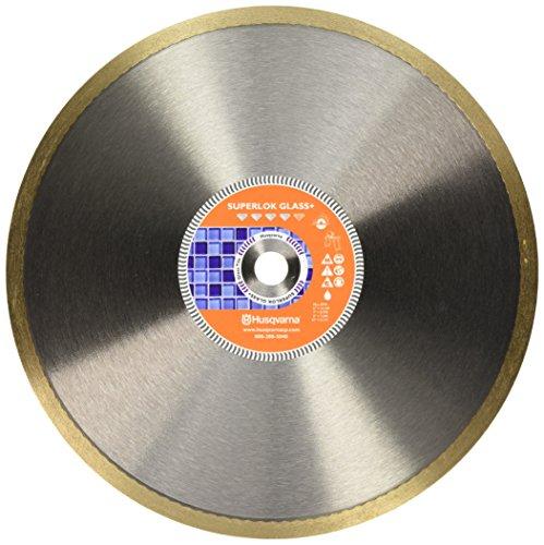 Husqvarna 542776618 Superlok Glass Plus Diamond Tile Blade, Gold 10-Inch x 5/8-Inch