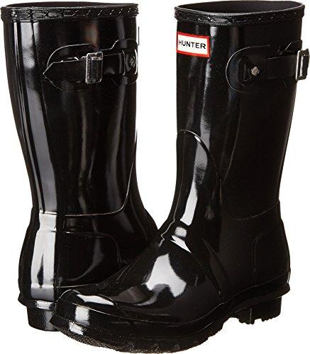 HUNTER Women's Original Short Gloss Snow Boot, Black, 8 M