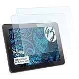Bruni Schutzfolie kompatibel mit CSL Panther Tab 9s Folie, glasklare Bildschirmschutzfolie (2X)