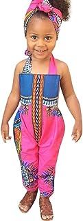 Honestyi Ensembles de Bébé Style National Africain Costume Non positionné Imprimer Barboteuses sans Manches Rompers Mode C...