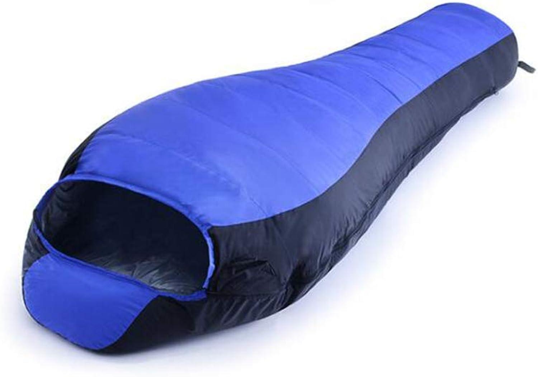 SZ JIAOJIAO Mummy Schlafsack kompakt wasserdicht superwarm und und und leicht unten Schlafsack genäht Werden,Blau B07LFD9PPT  Ab dem neuesten Modell c204ef