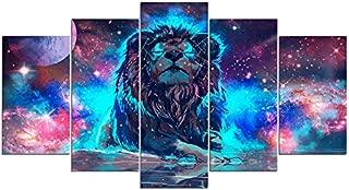 nebula lion wall art