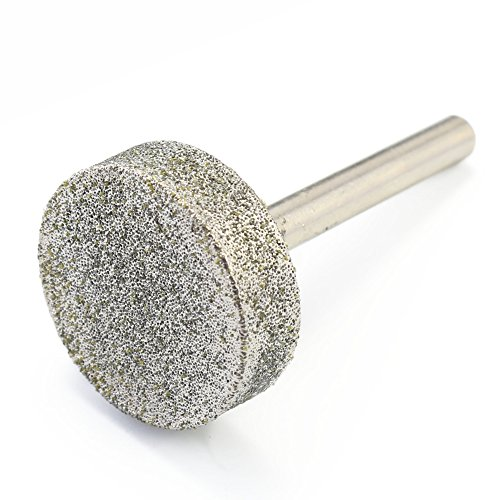 ILOVETOOL 80 Grit Diamond Coated 30 mm CYLINDER Cylindrical Mounted Point Grinding Wheel