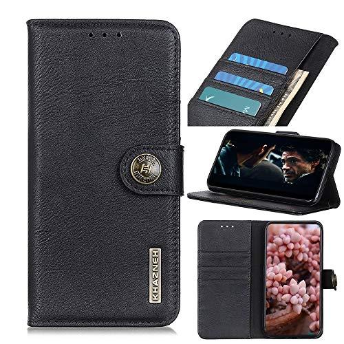 HH-Phone Case (versión lateral de huellas dactilares) Funda de piel con tapa horizontal con soporte y ranuras para tarjetas y cartera hangma (color negro)