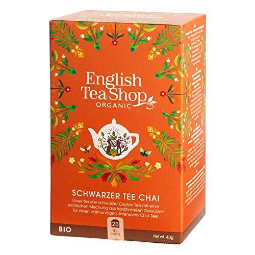 English Tea Shop - Schwarzer Tee Chai, BIO, 20 Teebeutel (DE-Version)