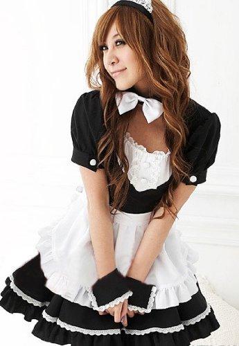 Lolita maid cosplay costume black sh073 / (japan import)