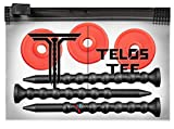 YATTA GOLF Telos Premium Golf Tees – Adjustable Golf Tees – Tee Off with Greater Consistency & Shoot Better Scores - Unbreakable Golf Tees – Lasts The Average Golfer A Season (3 Pack, Fire Red)