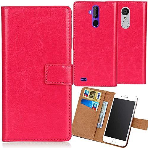 Dingshengk Rosa Premium PU Leder Tasche Schutz Hülle Handy Hülle Wallet Cover Etui Ledertasche Für Archos Core 57s