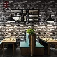 レンガパターンの壁紙、赤レンガレンガデカール3dアンティークレンガ壁画茶室文化石壁アートの装飾壁布 (Color : C)