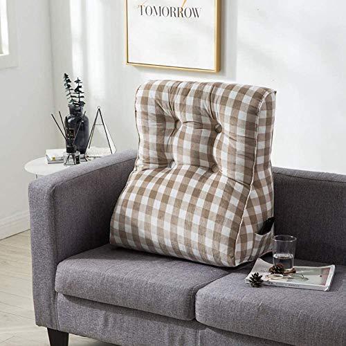 SZDL Rückenlehne Kissen for Stuhl Sofabett Bürostuhl-Rest-Kissen Dekokissen Polsterkopfteil Mit Abnehmbarer Und Waschbarer Bezug (Color : B-Gray, Size : 55x30x60cm)