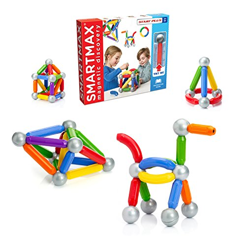 SmartMax Start Plus (30 pcs) STEM Magnetic Discovery Building Set Featuring Safe, Extra-Strong, Oversized Building Pieces for Ages 1+