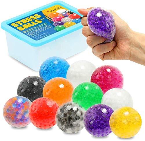 ZaxiDeel Anti Stress Ball Knete Squeeze Ball zum Quetschen für Kinder und Erwachsene gegen ADHD/ADHS/Autismus (A-Wasserperlen)