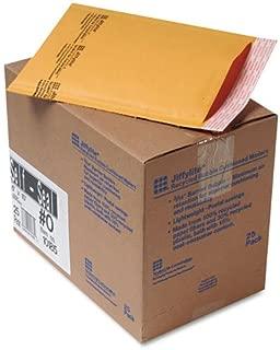 Sealed Air Jiffylite Self-Seal Mailer, Side Seam, 0, 6 x 10, Golden Brown, 25/Carton