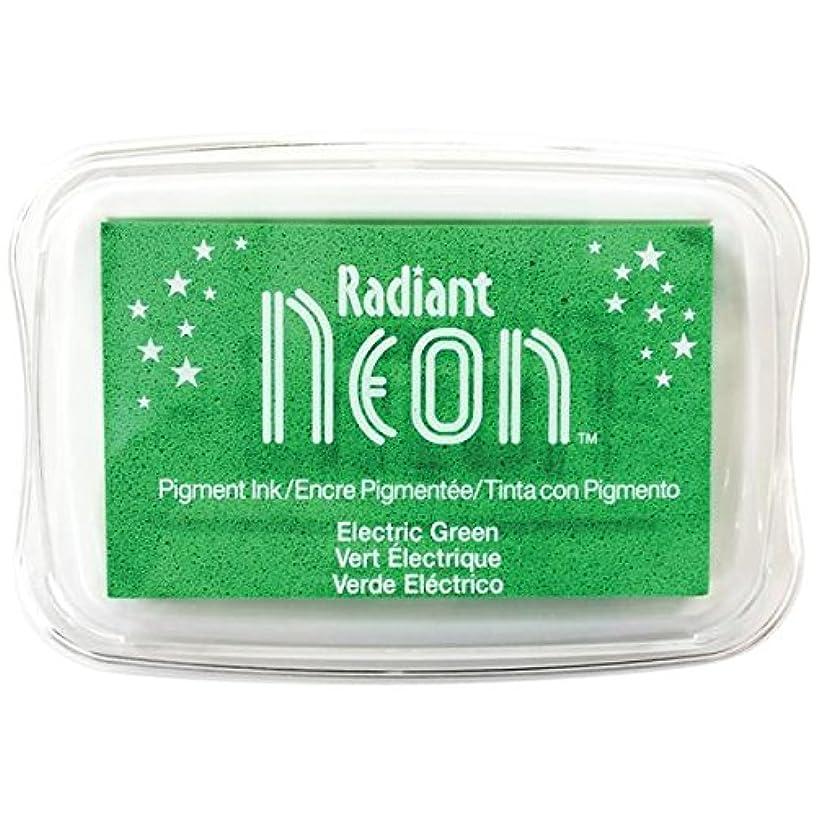 Tsukineko Radiant Neon Ink Pad, Electric Green