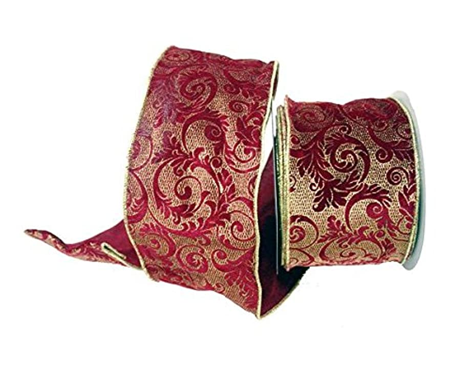 Renaissance 2000 24184 Ribbon, Red/Gold