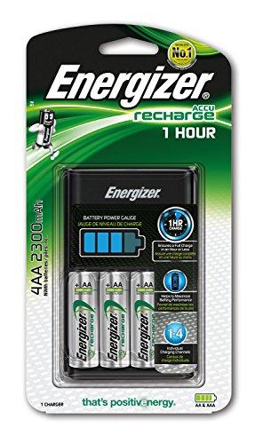 Energizer e300697700Cargador de batería, 2300mAh, 1Unidades, Color Negro