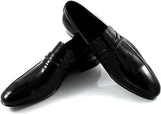 CANNERI Mocassino Uomo Nero - 7684 - Scarpa in Pelle - Scarpa Classica Business - Scarpa College - Scarpe in Vernice per N...