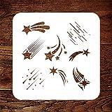 Plantilla reutilizable para estarcir estrellas de tiro - Plantilla de plantillas de pared para...