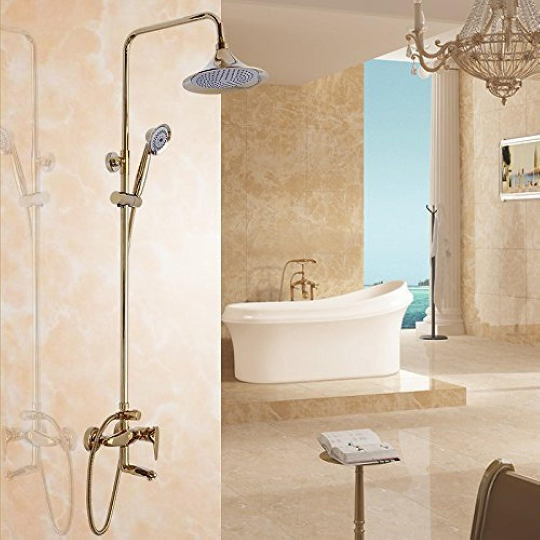 Cxmm Europischen Stil alle Kupfer Bad Dusche Wasserhahn Set