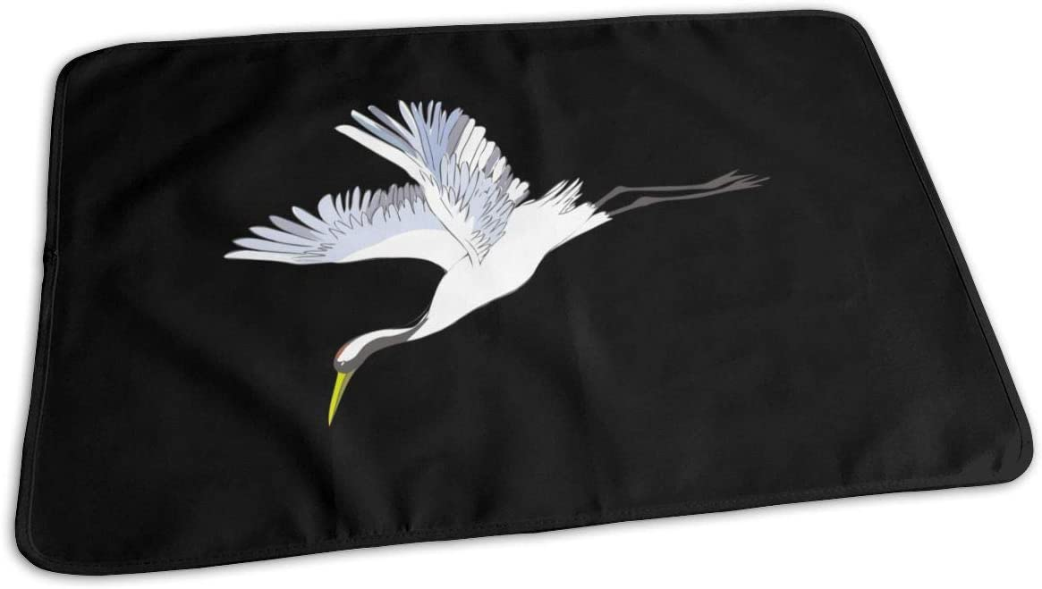 UAJAR Special 70% OFF Outlet price Red-Crowned Crane Baby Reusable Cover Portabl Changing Pad