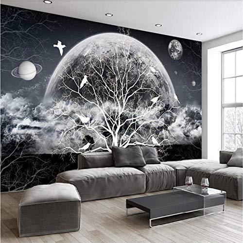 XLXBH Fotobehang, zelfklevend, met 3D-achtergrond, muurfoto, van papier, met bloemenmotief 520x290 cm (LxA) 11 strisce - autoadesive