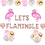 JeVenis Set von 20 Let 's Flamingle Ballons Flamingo Banner Flamingo Party Dekoration Flamingo Geburtstag Ballons Flamingle Bachelorette Dekor Luau Party Ballon