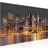Runa Art Wandbild XXL New York City 200 x 80 cm Braun Grau 5 Teilig - Made in Germany - 010055a