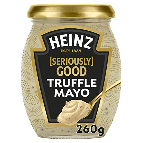 Heinz Seriously Good Truffle Mayo – Reich & cremig mit Trüffelstücken, 1 x 260 g