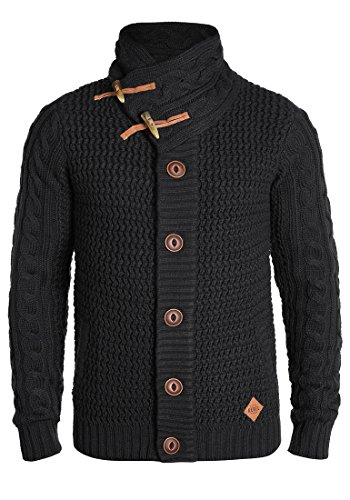 Redefined Rebel Mitchell Herren Strickjacke Cardigan Grobstrick Winter Pullover, Größe:M, Farbe:Black