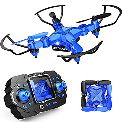 DROCON Mini Drone for Kids, Scouter Foldable Beginner drone with Altitude Hold/3D Flips/Self-Rotating/Headless Mode/One-Key Take-Off & Landing/One-Key Return/Speed Adjustment/2 Charge Ways