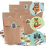 24 pequeñas bolsas de papel natural marrón papel kraft 14