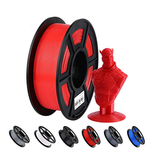ANYCUBIC Filamento PLA 1.75 black grey red white (rosso)