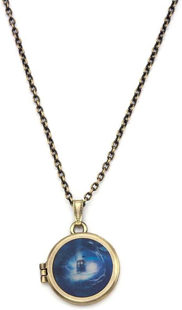 INOX Doctor Who Gallifreyan Locket Necklace