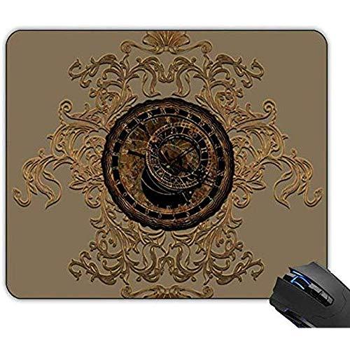 Mousepad Uhren Und Sternzeichen Gaming Mouse Pad Gummi Rutschfeste Mousepad Benutzerdefiniert 22x18cm
