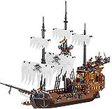 Bloques de construcción de ensamblaje de modelo de barco pirata de crucero caribeño, regalos creativos de bricolaje para niños. 1802,1171pcs