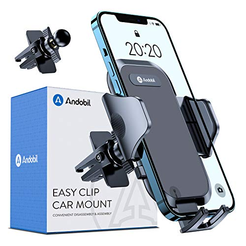 andobil Car Phone Holder, [Military Sturdy Clips Firmly Grip & Never Slip]...
